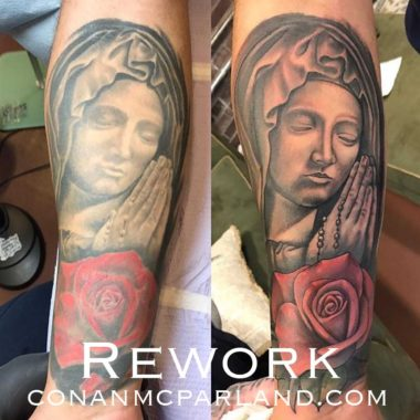Conan McParland-Rework-Mother Mary-Tattoo-Charlotte-NC