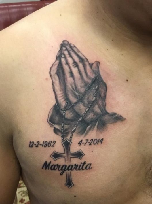 Dallas Davis-Praying hands-Tattoo-Charlotte-NC