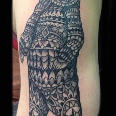 Marcus Clark-polynesian-bear-tattoo-charlotte-nc